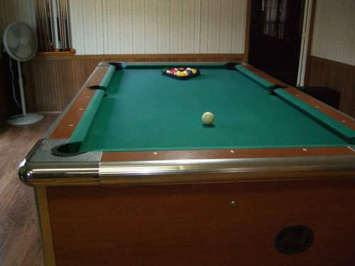 Pool Table- Bar Sized-And Budwieser Light for Sale in ...