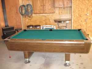 Pool Table 7ft Fisher   $800 (Beaverton, Mi )