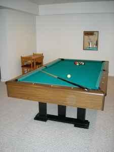 Pool table 8 ft 3 piece slate oshtemo area for sale for 1 piece slate pool table