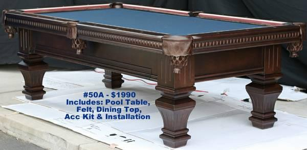 Pool table dining table combo pool tables display - Snooker table dining table combination ...