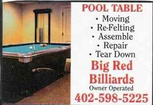 pool table moved and refelted omaha nebr iowa areas for sale in omaha nebraska classified. Black Bedroom Furniture Sets. Home Design Ideas