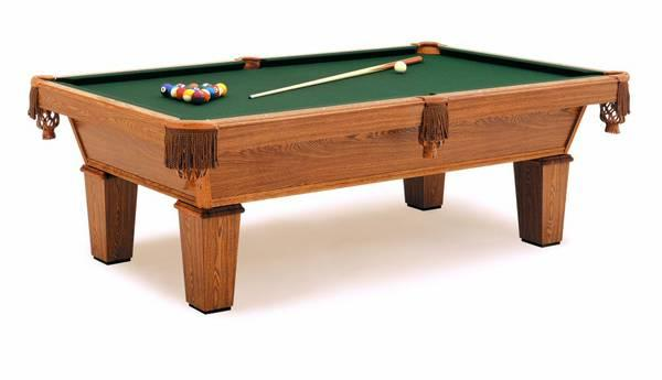Pool Table Oak Ft Leather Pockets Pd First Free - First pool table