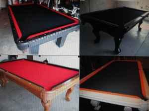 POOL TABLE REFELT OR RELOCATEPROFESSIONAL QUALITY FELTSPECIALS - Pool table refelting near me