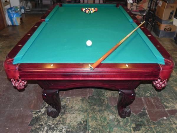 Pool Table - slate top - with sticks, racks and balls for ...