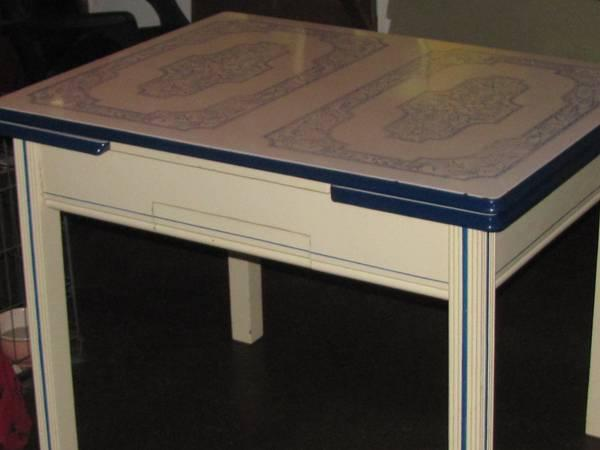 Porcelain/Metal Top Table & Chairs - REDUCED - $200
