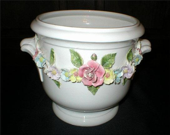 Porcelain Planter - Made in Portugal - Numbered -