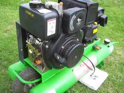 Portable Diesel powered Air Compressor, 160-CFM, new price for sale in