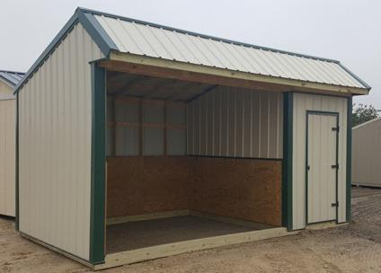 Portable Loafing shed 10x18 with 6' Tack Room- Horse