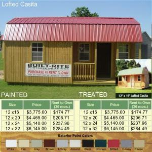 PORTABLE STORAGE BUILDINGS... RENT TO OWN.. FREE