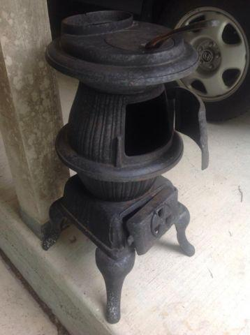 Pot-Belly Cast Iron Caboose Stove, Never Used