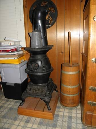 Pot Belly Stove Cast Iron Old Never Used For Sale In