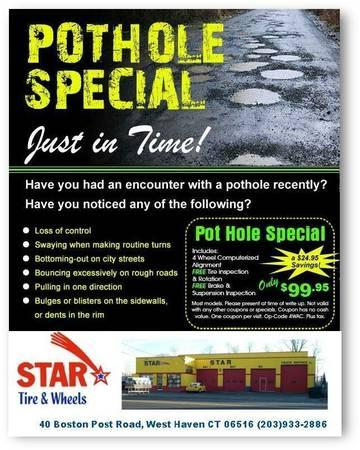 Pot Hole Season is Here!! Free Inspection