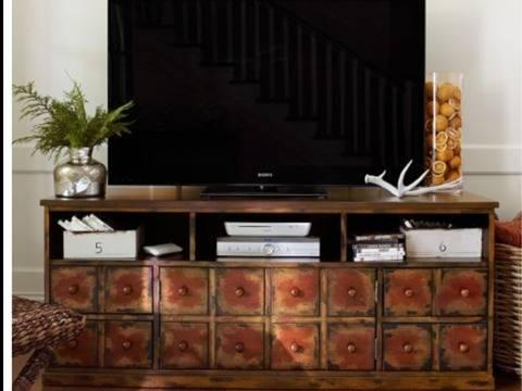 Pottery Barn Andover Media Console For Sale In San Mateo