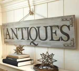 Pottery Barn Antique Sign Greenfield Oh For Sale In