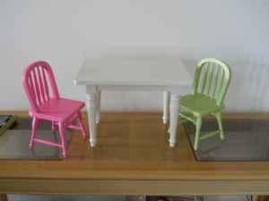 Pottery Barn Chair And Table And Chairs Fit American Girl