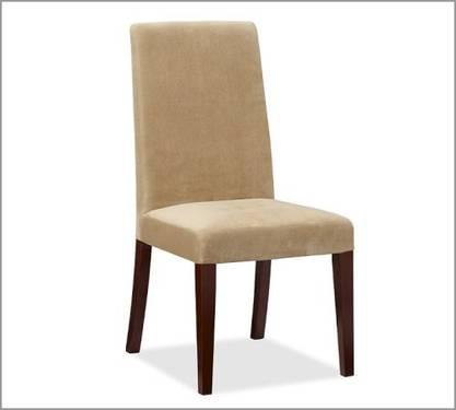 POTTERY BARN GRAYSON OAT EVERYDAY SUEDE DINING CHAIR