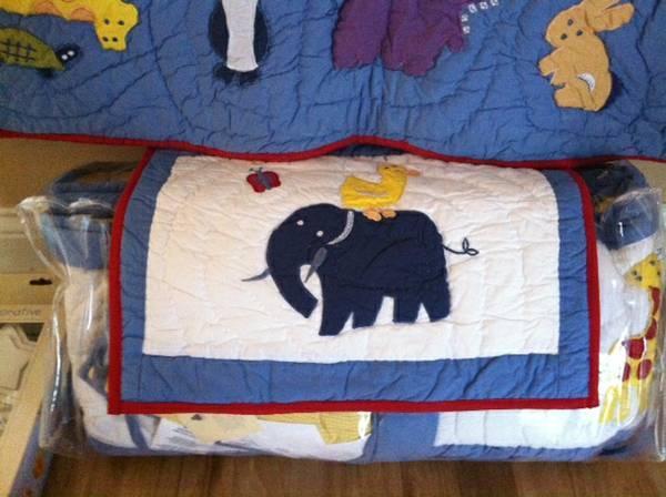 Pottery Barn Kids Crib/Toddler Bedding Set Unisex, Animals