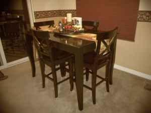 POTTERY BARN KITCHEN TABLE WITH CHAIRS MATCHING BAR STOOLS - Pottery barn black dining table