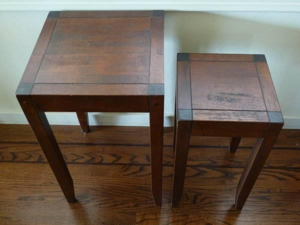 pottery barn nesting tables for sale in redwood city california classified. Black Bedroom Furniture Sets. Home Design Ideas