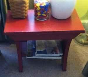 Pottery Barn Rustic Red Bench Nellie Oh For Sale In Zanesville