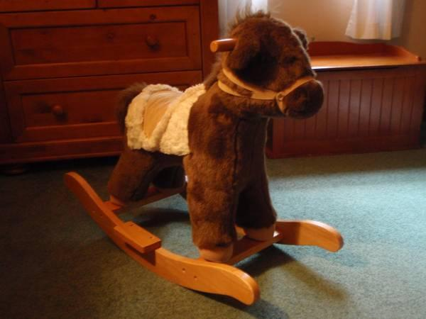 Pottery Barn Stuffed Rocking Horse For Sale In Midland
