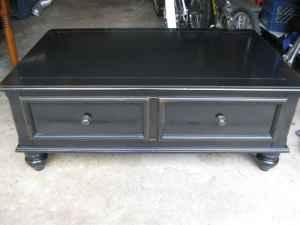 Pottery Barn Style Black Coffee Table And End Table Ferry St - Pottery barn style coffee table
