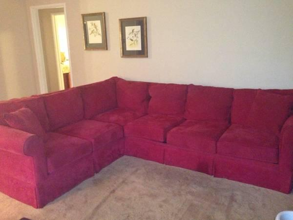 Pottery Barn Style Microfiber Sectional Sofa With Sofa Bed