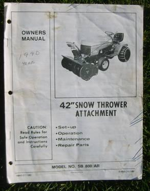 Poulan Craftsman Others Snowblower Snow Thrower Tractor