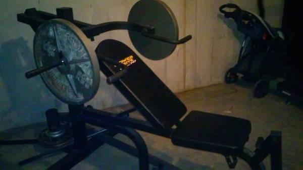 Power Drive Exercise Weight Bench With Olympic Barbell Weights For Sale In Beaverlick Kentucky