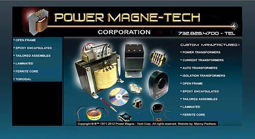 Power Magne-tech Corp. 732-826-4700, Custom  Power Transformers