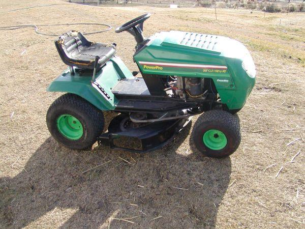 Power Pro Riding Lawn Mower/ Tractor==12hp x 38 inch cut (very nice) - $285  (Yakima)