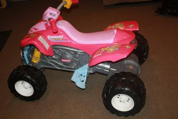 Power Wheels Fisher-Price Kawasaki KFX Quad Ride On - Barbie - $180