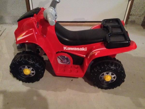 Power Wheels Fisher-Price Lil Kawasaki Boys Sport Quad - $60