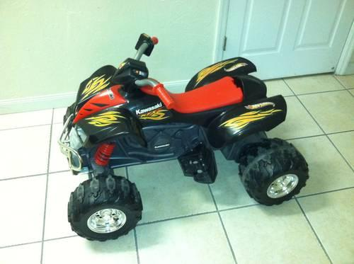 power wheels kawasaki kfx 4 wheeler for sale in ocala florida classified. Black Bedroom Furniture Sets. Home Design Ideas