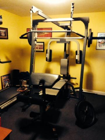 Powerhouse elite home gym smith bar machine for sale in cleveland