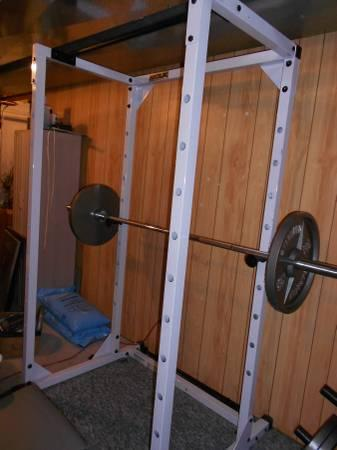 Powerline Weight Rack, Bench  Complete Weight Set - $700