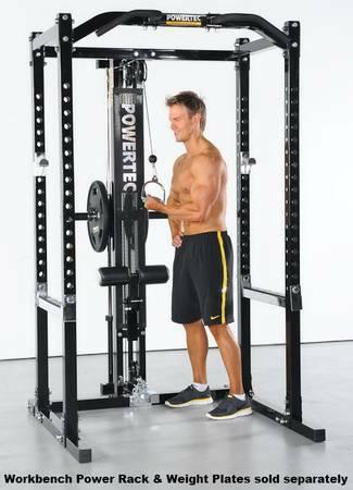 Powertec Lat Tower Add On For Smith Machine Cage Rack