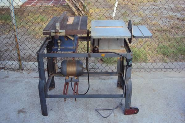 Powr Kraft 8 Disc  9 Drum Sander and Craftsman Table Saw