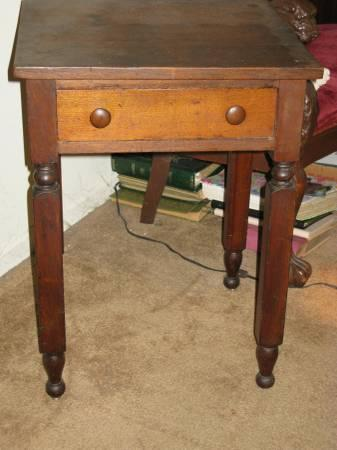 Pre Civil War Antique Cherry Lamp Table Early American