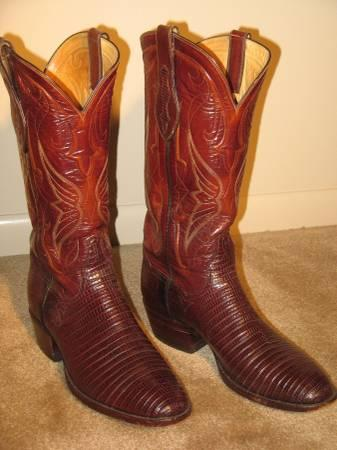 Pre Owned T O Stanley Western Boots Coffee For Sale In