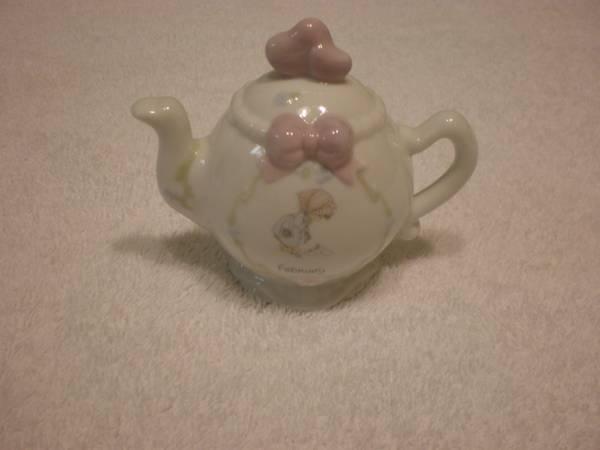 Precious Moments February Teapot - $10