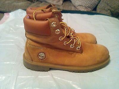 Premium gold wheat leather timberland boots Mens size 6