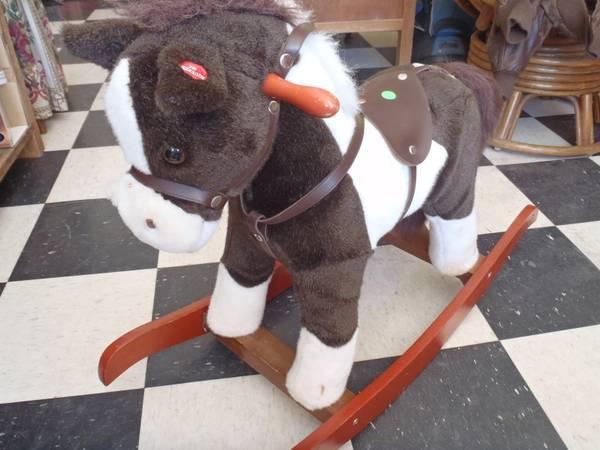 PRICE CUT  NICE PLUSH SMALL ROCKING HORSE  - $25