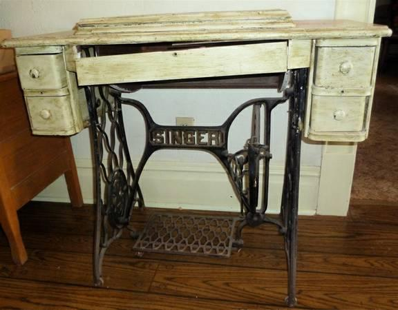 price reduced singer treadle sewing machine base cabinet for sale in san angelo texas. Black Bedroom Furniture Sets. Home Design Ideas