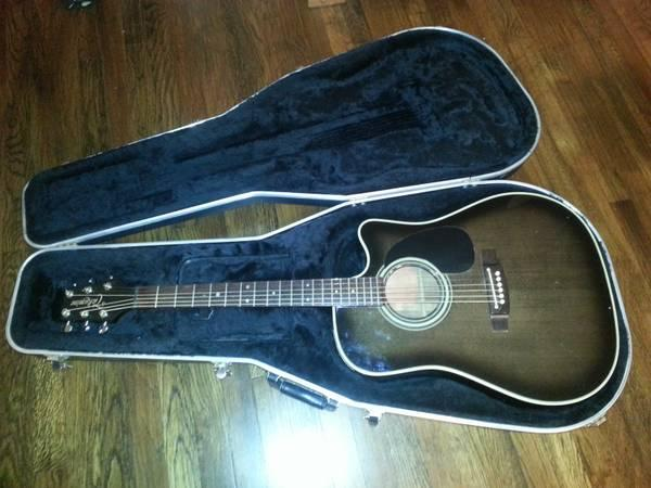 price reduced takemine ef361ec electric acoustic guitar w case for sale in burkburnett texas. Black Bedroom Furniture Sets. Home Design Ideas