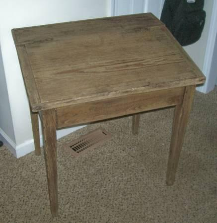 Primitive Antique Small Wood Writing Desk 150