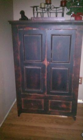 Primitive looking armoire - $175 (Mansfield)