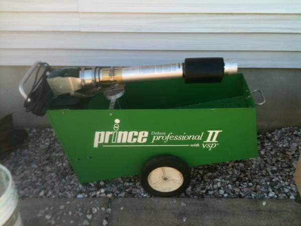 prince tennis machine