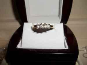 Princess Cut 3 Stone Diamond Engagement Ring - $800