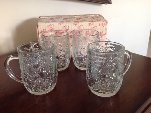 Princess House Fantasia Cups Set Of 4 For Sale In Jacksonville Florida Classified